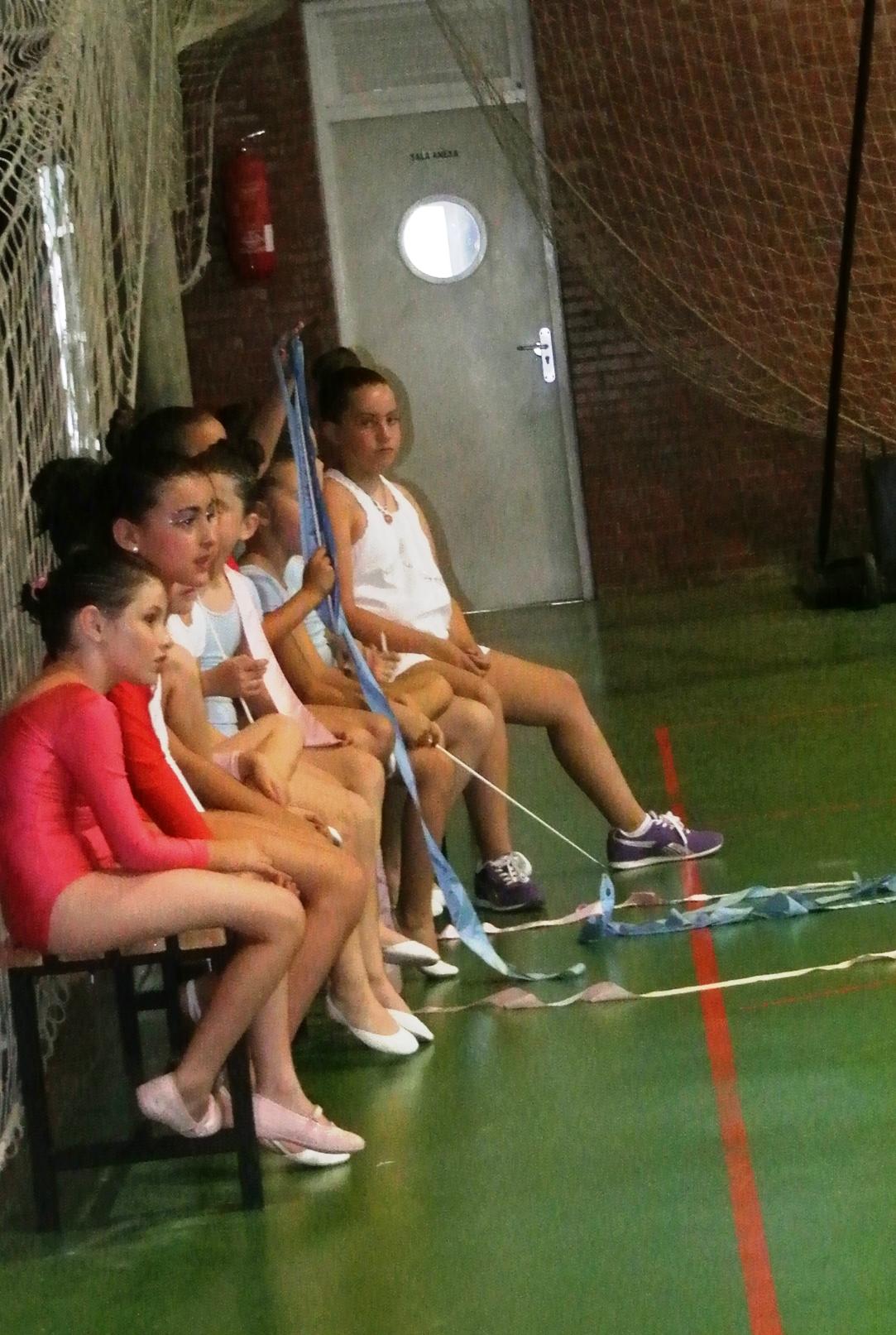 Exhibición de gimnasia rítmica